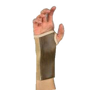"Scott Specialties Elastic Wrist Brace with Palm Stay Large 3-1/2"" to 4"", 7"" L, Right, Beige, Hook and Loop Closure SS4039RLG"