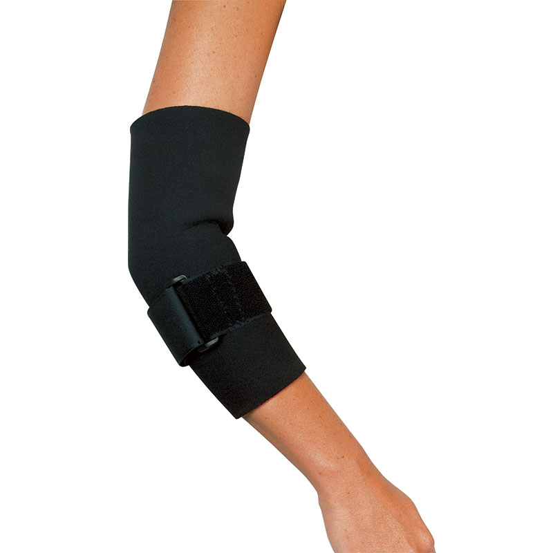 Leader Neoprene Tennis Elbow with Strap, Black, X-Large SS4915211