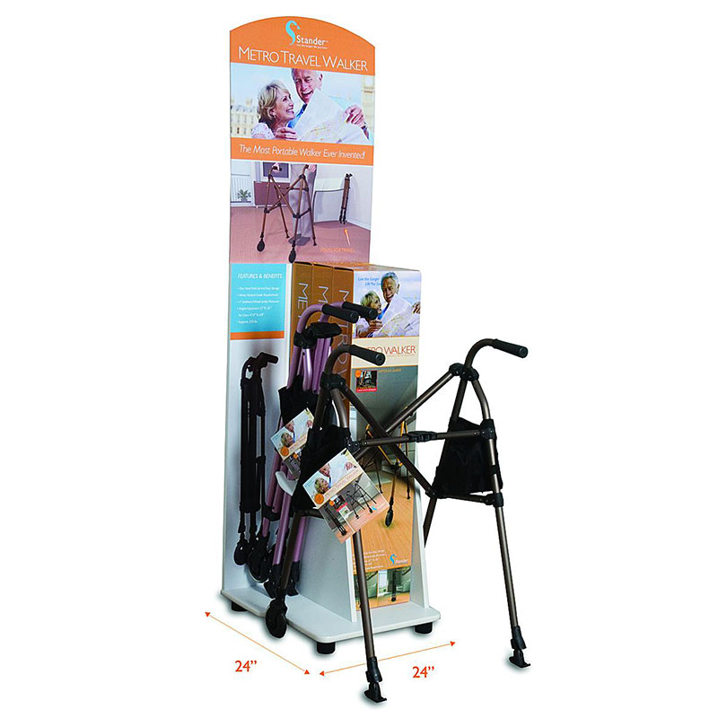 Stander Metro Travel Walker Display STD4111
