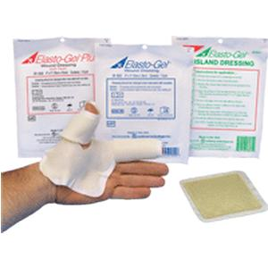 """Southwest Technology Elasto-Gel™ Wound Dressing without Tape, Mildly Adhesive, Sterile, Bacteriostatic, Highly Absorbent 4"""" x 4""""  SWDR8000"""