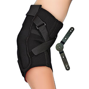"Thermoskin ROM Hinged Elbow Support, X-Large, 14"""" - 15-3/4"""" Circumference, Black SWO86189"