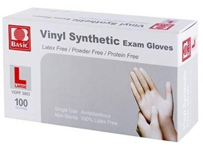 Intco Vinyl Powder-Free Exam Gloves, Large TDRVGPF3003