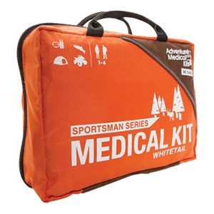 """Tender Corp Sportsman Whitetail Medical First Aid Kit 7-1/2"""" x 5-1/2"""" x 3-1/2"""" For 1 to 4 People, Stabilize Fractures and Sprains, Stop Blisters TEN01050387"""