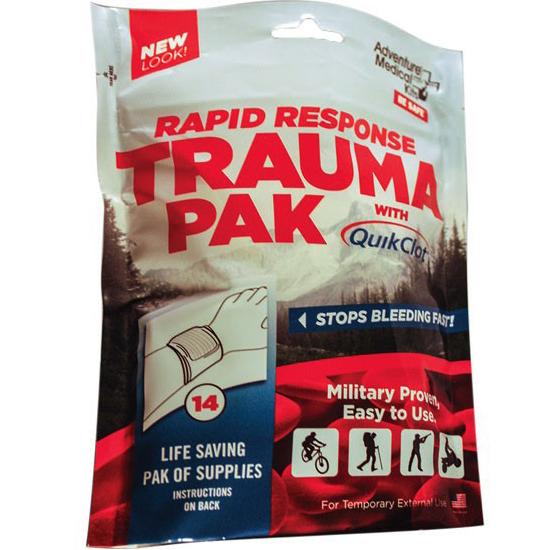 Adventure Rapid Response Trauma Pak, with QuikClot® Advanced Clotting Sponge TEN20640294