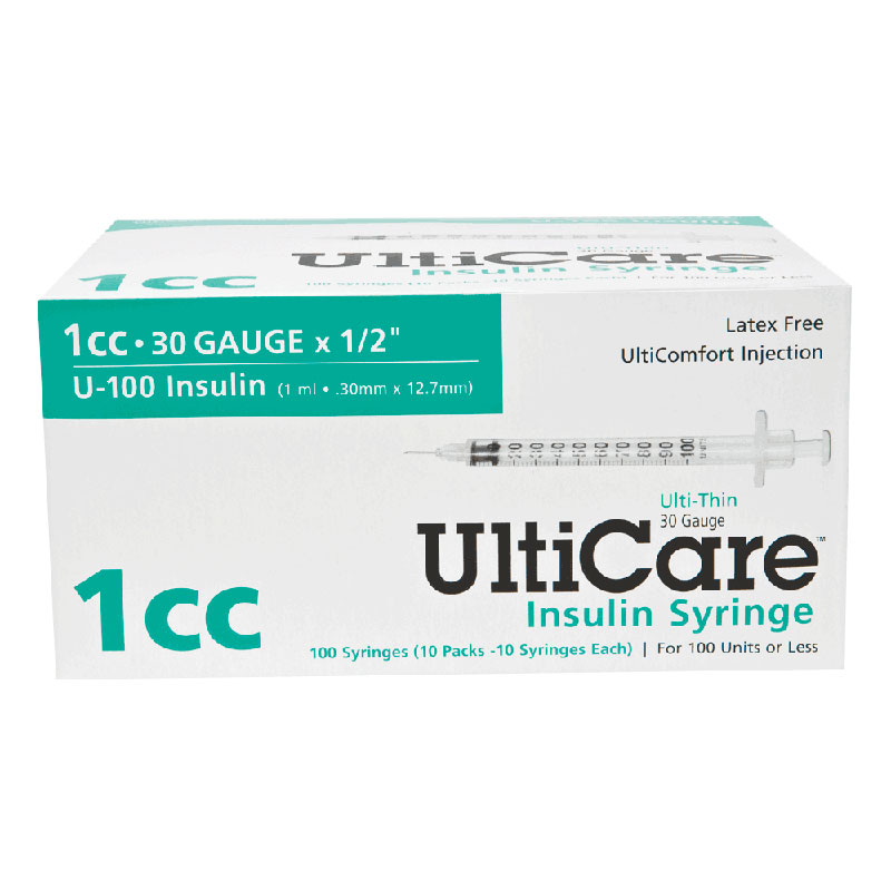 "Ultimed UltiCare™ Insulin Syringe 1cc, 30G x 1/2"" Needle UT09315"