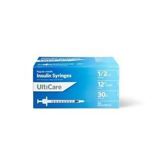 """UltiCare Syringe 30G x 1/2"""""""", 1/2 mL (90 Count) UT91004"""