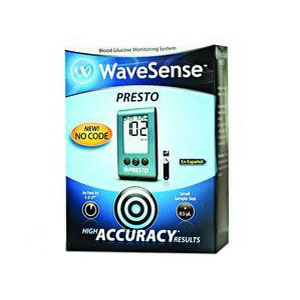 WaveSense™ Presto™ Blood Glucose Monitoring Kit, Results in 4-12 Sec, No Coding WA800002649