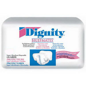 "Dignity® Briefmates Super Guards 7-1/2"" x 15-2/5"" WH30074"