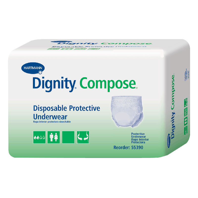 """Dignity® Compose® Disposable Protective Underwear, XL 45"""" to 68""""  WH55690"""
