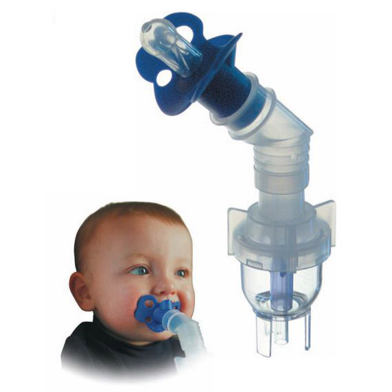 Westmed PediNeb™ Nebulizer 45° Elbow, Pacifier, 7 ft. Kink-Resistant Oxygen Tubing WMD0382