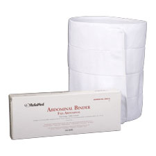 """ReliaMed 4-Panel Abdominal Binder with Adjustable Velcro 12"""""""" Wide 30"""""""" - 45"""""""" ZRB810"""