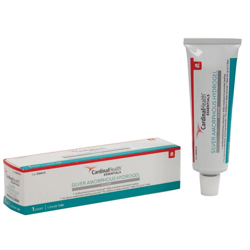 Cardinal Health Essentials Silver Amorphous Hydrogel 1.5 oz Tube ZSHG15